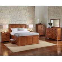 King Captains Bed with 9 Drawers Total (6 Regular Drawers on one side and 3 Large Drawers on the other)