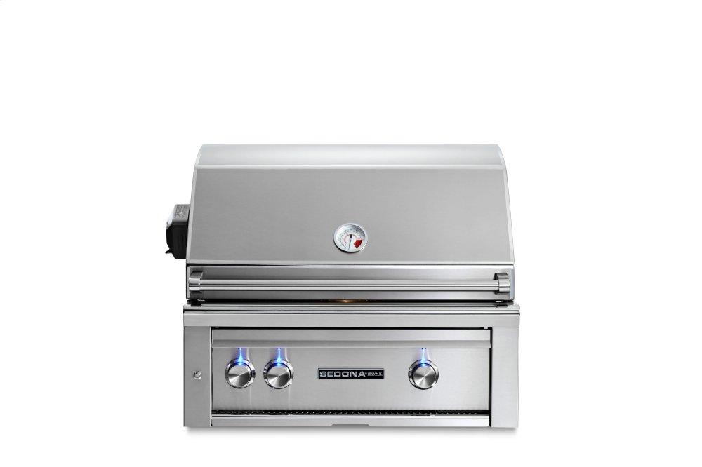 """Lynx30"""" Sedona By Lynx Built In Grill With 1 Stainless Steel Burner And Prosear Burner And Rotisserie, Lp"""