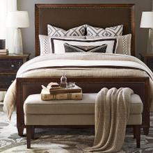 Queen/Western Brown Compass Upholstered Bed