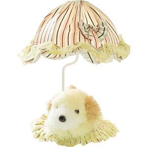 Table Lamp - Yellow Dog/striped Fabric Shade, E27 Type B 40w