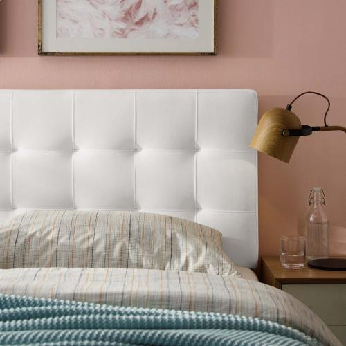 Modway - Lily Queen Biscuit Tufted Performance Velvet Headboard in White