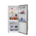 "Beko 30"" Freezer Bottom Stainless Steel Refrigerator"