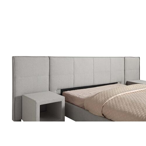 Emerald Home Cazelle Upholstered Headboard for Queen 5/0 Storage Bed-gray-b133-10hb-03