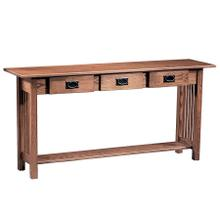 View Product - Mission 3-Drawer Sofa Table