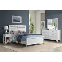 See Details - Talford Cotton - Full/queen Louver Panel Headboard - Cotton Finish