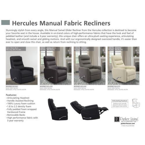 HERCULES - BLACK Manual Swivel Glider Recliner