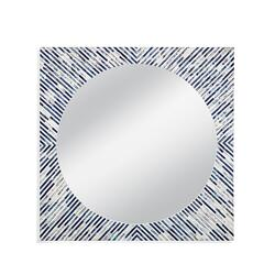 Sunburst Bone Wall Mirror