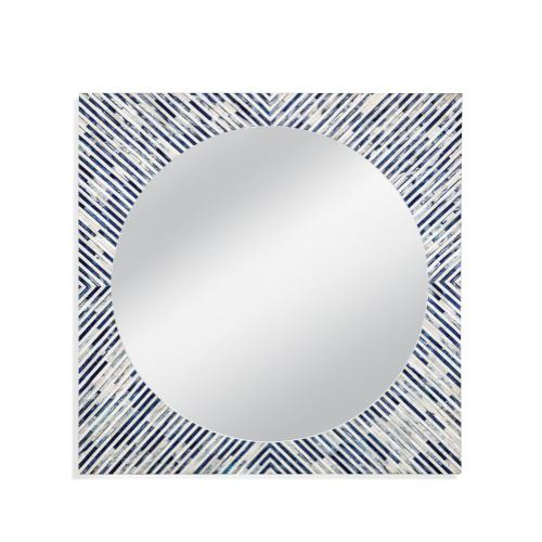 Sunburst Bone Wall Mirror
