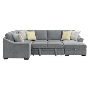 Emerald Home Elle U4378-11-03 Lsf Corner Sofa W/ 4 Pillows