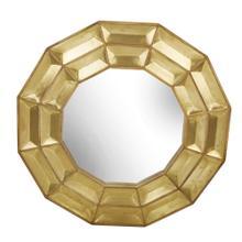 "Wood / Brass 47"" Wall Mirror, Gold"