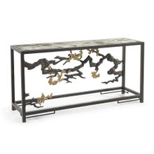 See Details - Sculpted Console Table in Antique Brass