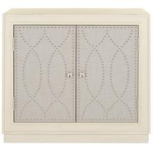 See Details - Yuna 2 Door Chest - Antique Beige / Nickel / Mirror