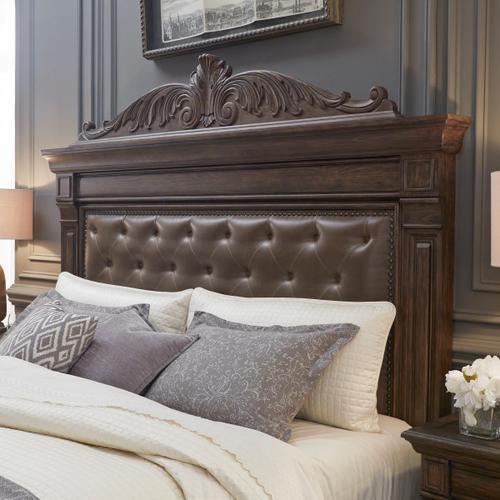 Bedford Heights King / California King Panel Bed Headboard in Estate Brown