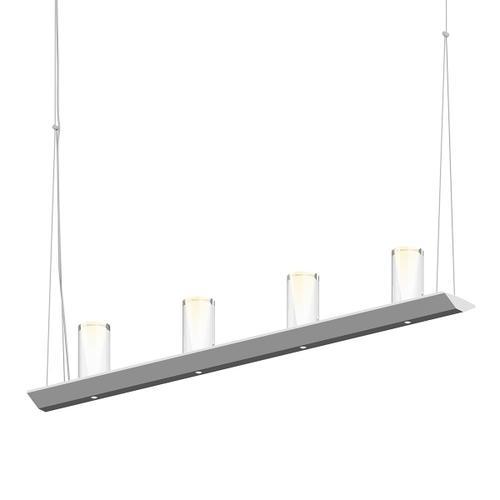 "Sonneman - A Way of Light - Votives LED Bar Pendant [Size=3', Color/Finish=Bright Satin Aluminum, Shade Size=4"" height x 2"" diameter]"