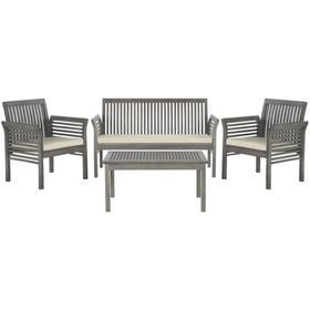 Carson 4 PC Outdoor Set - Grey Wash / Beige