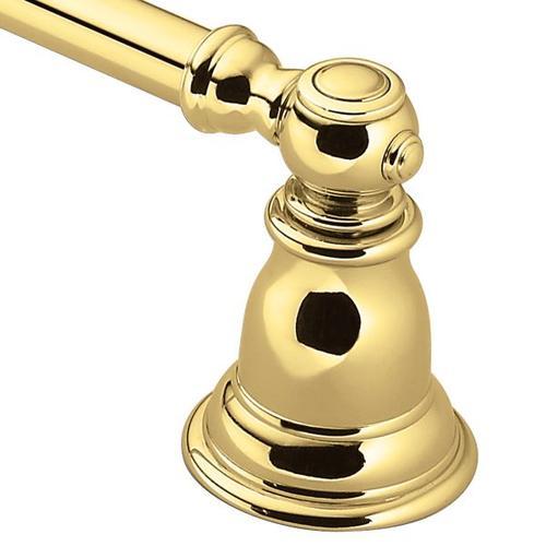 "Kingsley polished brass 18"" towel bar"