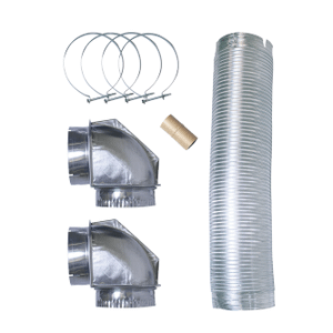 FrigidaireSmart Choice 8' Semi-Rigid Dryer Vent Kit, with 2 Elbows