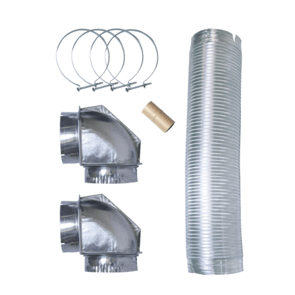 Smart Choice 8' Semi-Rigid Dryer Vent Kit, with 2 Elbows