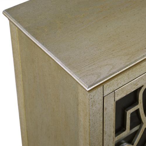 Art Deco 2 Door TV Console in Vermeil Gold