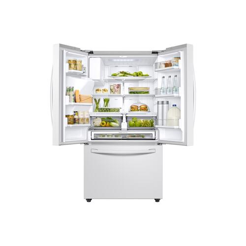 23 cu. ft. 3-Door French Door, Counter Depth Refrigerator with CoolSelect Pantry™ in White