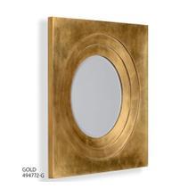 Gilt framed round mirror