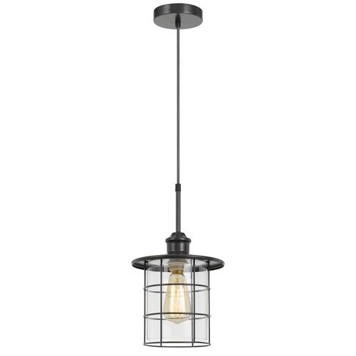 60W Silverton metal/glass pendant fixture (Edison bulbs included)