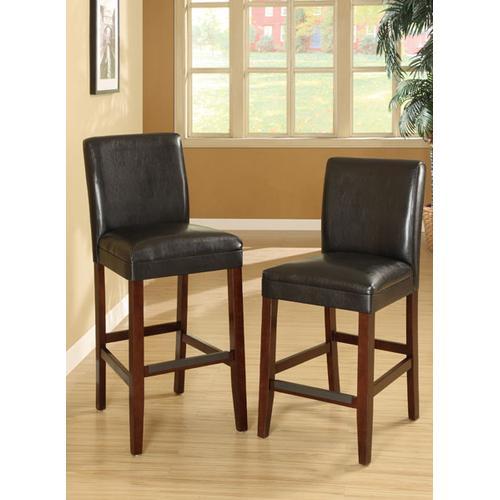 Bar Chair, Black Faux Leather