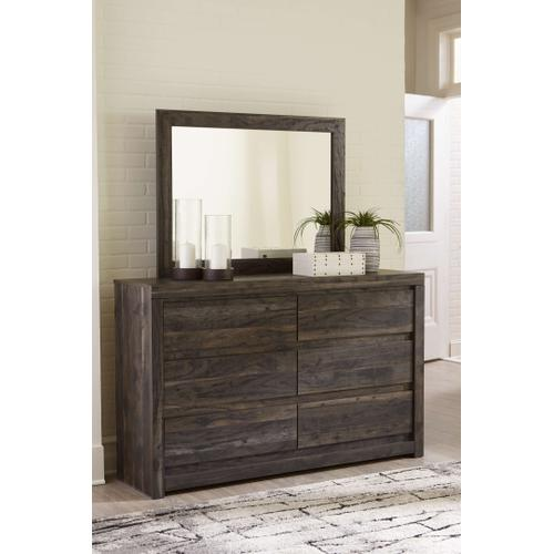Ashley - Queen Bookcase Panel Bed With Mirrored Dresser
