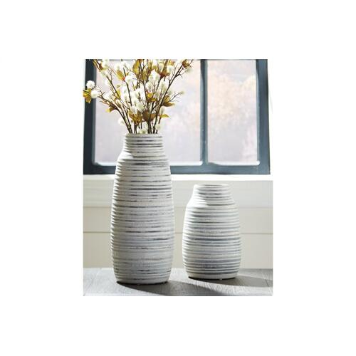 Vase Set Donaver Gray/White