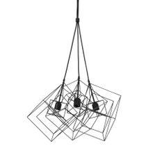 See Details - 2905212 - Hanging lamp 3L 25x25x26 cm KUBINKA matt black