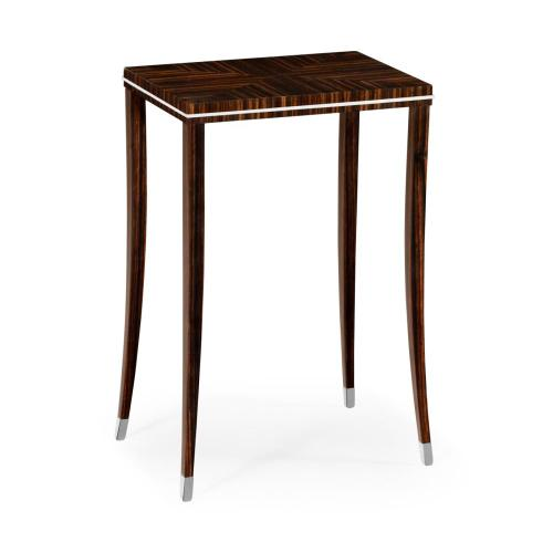 Soho lamp table with white brass detail