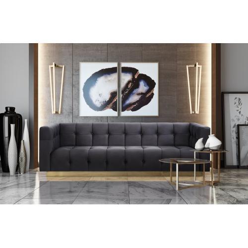 Tov Furniture - Roma Grey Velvet Sofa
