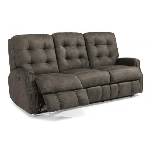 Devon Fabric Reclining Sofa With