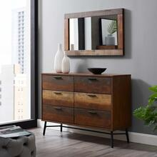 See Details - Arwen Rustic Wood Frame Mirror in Walnut