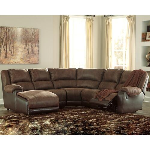 5 Piece Manual Reclining Sectional