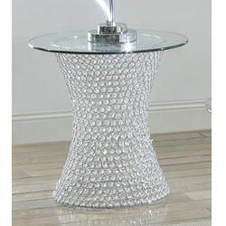 Crystal End Table W/led Lite
