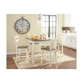 Woodanville Square Counter Tbl Set Cream/Brown