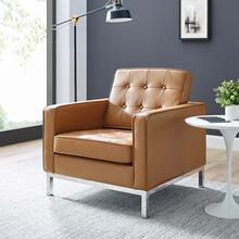 Loft Leather Armchair in Tan