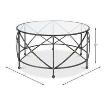 Drum & Fife Coffee Table W/Glass Top
