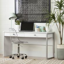 Desk with 2 Drawers - Pure White