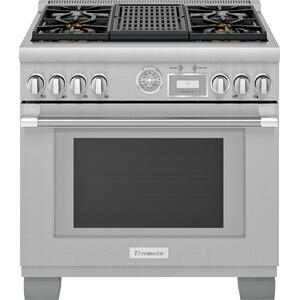 ThermadorDual Fuel Professional Range 36'' Pro Grand® Commercial Depth Stainless Steel PRD364WLGU
