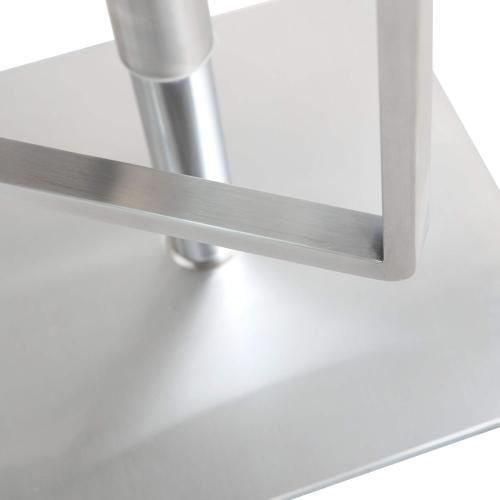 Tov Furniture - Seville White Steel Barstool
