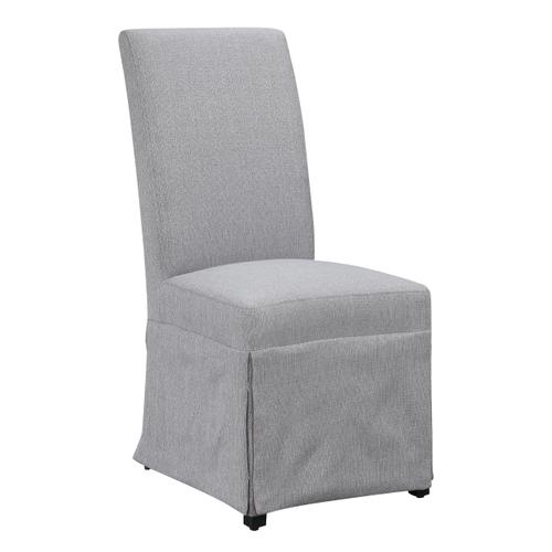 Paladin Upholstered Skirted Parsons Dining Chair, Linen Gray D350-22-23