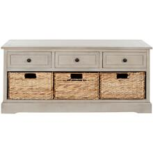 See Details - Damien 3 Drawer Storage Bench - Vintage Grey