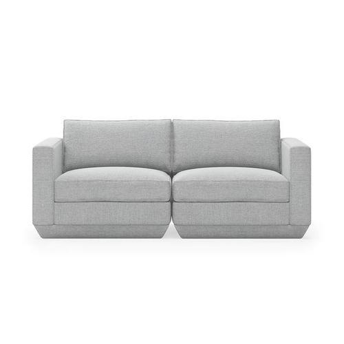 Podium 2PC Sofa New Bayview Silver