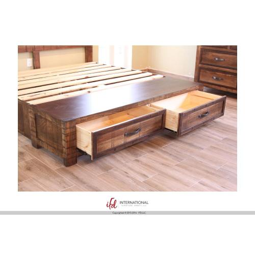 6/0 Footboard Storage & 6/0 Rails -Shipped together w/footboard storage