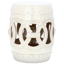 See Details - Cream Double Coin Garden Stool - Cream