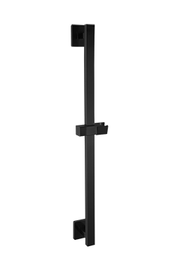 Slide Rail Set Only, Square Escutcheons, Black Product Image