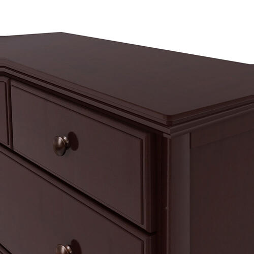 2 over 3 Drawer Chest Espresso