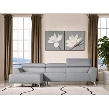 Divani Casa Sawtelle Modern Grey Fabric Sectional Sofa